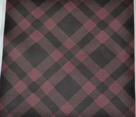 Pinkish Red and Charcoal Plaid
