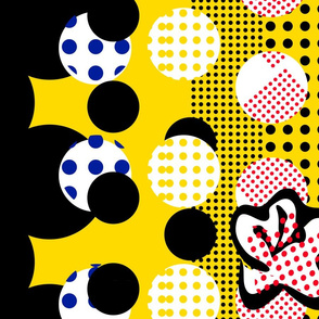Popart dots and flowers