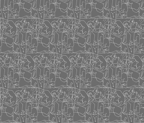 Liquid Cat fabric by graceful on Spoonflower - custom fabric