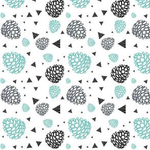 Pretty Pinecones White