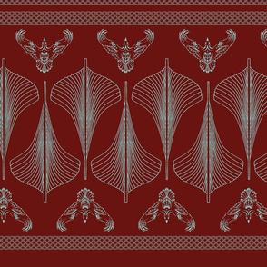 viking hulls skirt iron red