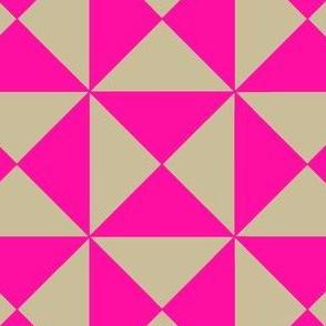 Trigonometry Neon Pink and Natural
