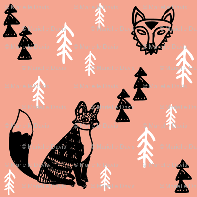 Forest Foxes Apricot