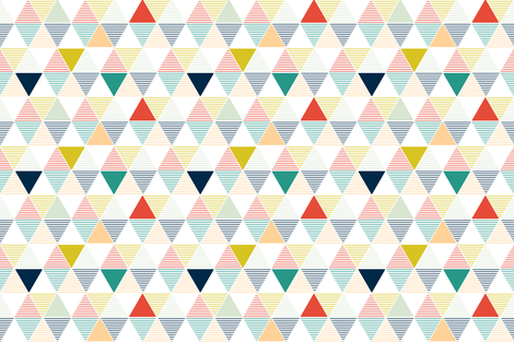 Modern Geometric - white fabric by lemonni on Spoonflower - custom fabric
