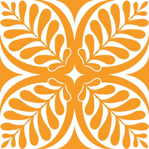 Fern Block Tangerine