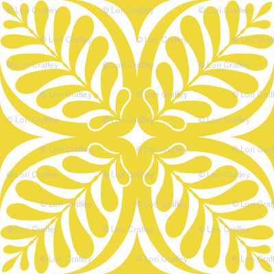 Fern Block Yellow