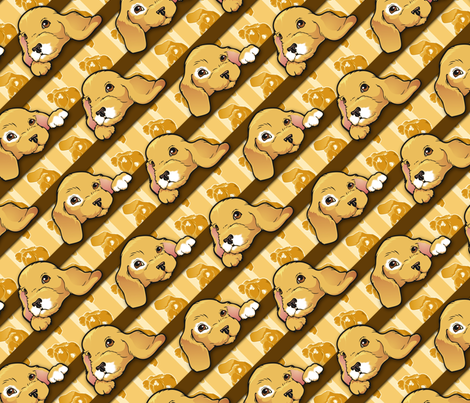 puppies2a fabric by hannafate on Spoonflower - custom fabric