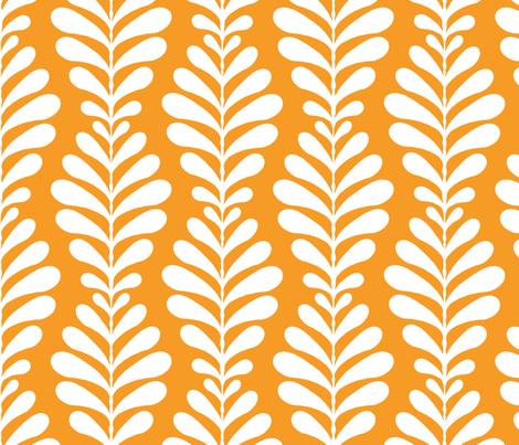 fern_ground_stripe_tangerine fabric by littlerhodydesign on Spoonflower - custom fabric