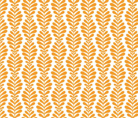 fern_stripe_tangerine fabric by littlerhodydesign on Spoonflower - custom fabric