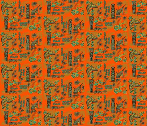 Orange islands fabric by sophista-tiki_by_dawn_frasier on Spoonflower - custom fabric