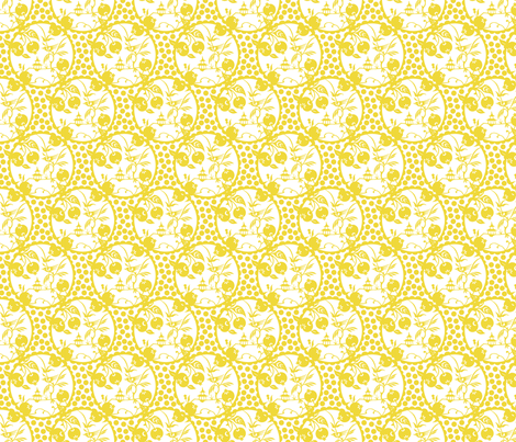 Pagoda yellow fabric by littlerhodydesign on Spoonflower - custom fabric