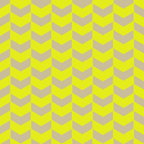 Herringbone Neon Yellow on Natural