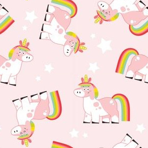 Dancing Unicorns Ditsy