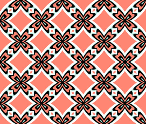 Retro New Mexico ~ Hobbs fabric by peacoquettedesigns on Spoonflower - custom fabric