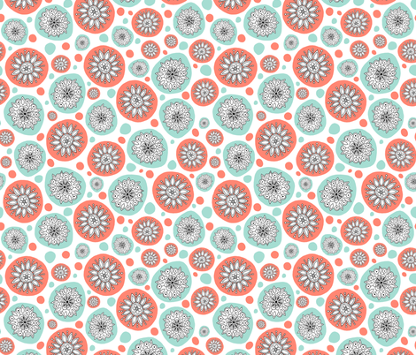 Snowflakes fabric by bunyipdesigns on Spoonflower - custom fabric