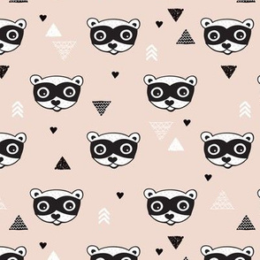 geometric woodland animals raccoon skunk geometric arrows gender neutral kids design