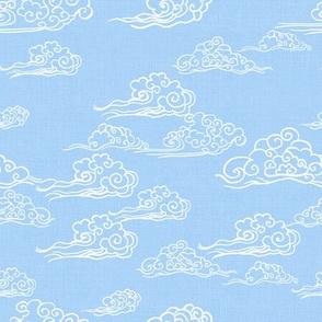 Swirling Clouds, Bright Blue