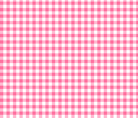 """pink 1/2"""" check fabric by yarnandcloth on Spoonflower - custom fabric"""