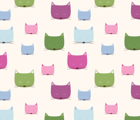 Cool Cats fabric by oliveandruby on Spoonflower - custom fabric