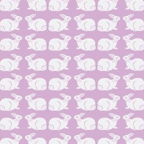 Very pale gray bunnies on lavender