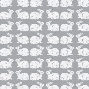 Very pale gray bunnies on gray