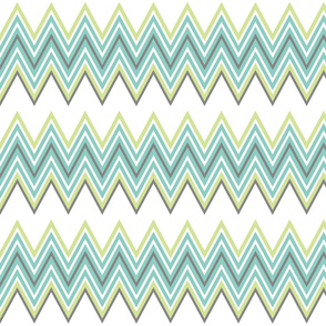 Chevron in Blues & Greens/Grays