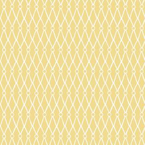 White Fish Net Pattern on Yellow