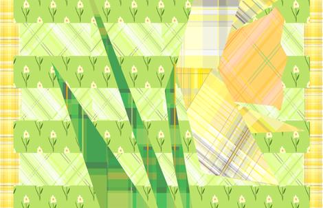 plaidaffodil fabric by krissikins on Spoonflower - custom fabric