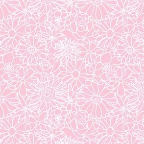 FLORAL- pink &white