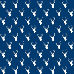 Navy Deer Silhouette Small scale