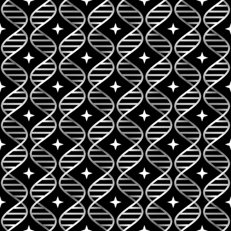 chrome-plated DNA fabric by sef on Spoonflower - custom fabric