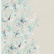 Birds + Blossoms Border Print
