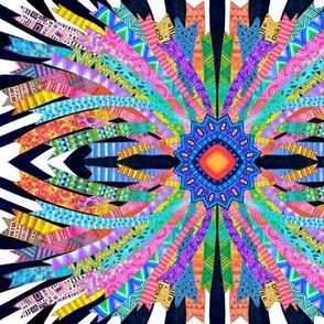 Ribon Multicolor Black and White