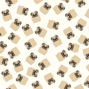 Pug Pattern Beige