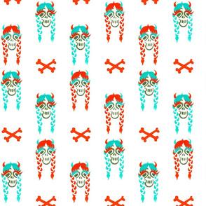 Happy braided skull ladies