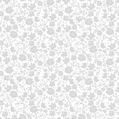 Summer floral - Grey (larger pattern)