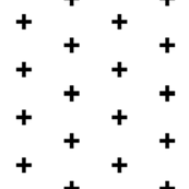 black cross on white brick pattern