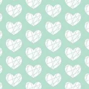 mint heart abstract