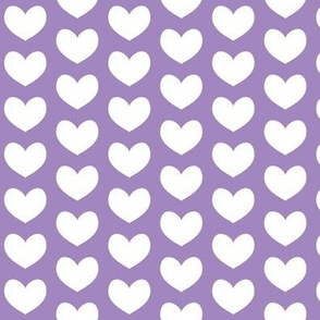 white heart on purple