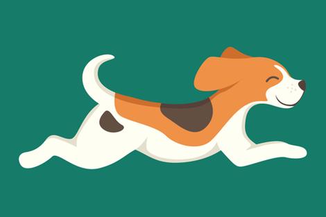 Beagle - large fabric by gila_be on Spoonflower - custom fabric