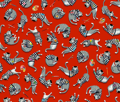 Pablo Picatsso Takes a Nap fabric by kirsten_sevig on Spoonflower - custom fabric