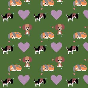 Beagle on Deep Green