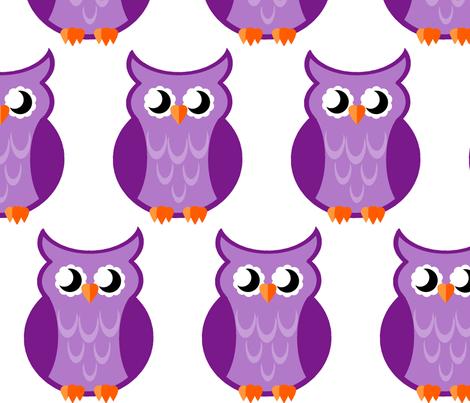 purple_owl_2 fabric by mysticalarts on Spoonflower - custom fabric