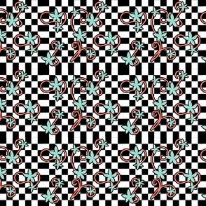 Checkered swirls