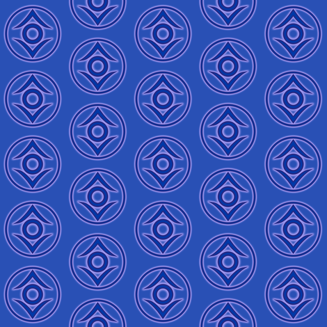 Indigo Tribe fabric by mad_eeker on Spoonflower - custom fabric