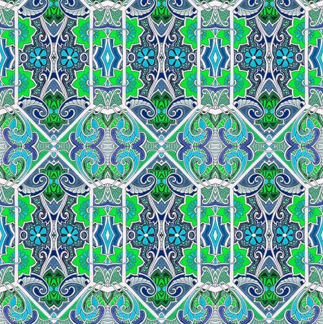 Hexagon Garden fabric by edsel2084 on Spoonflower - custom fabric