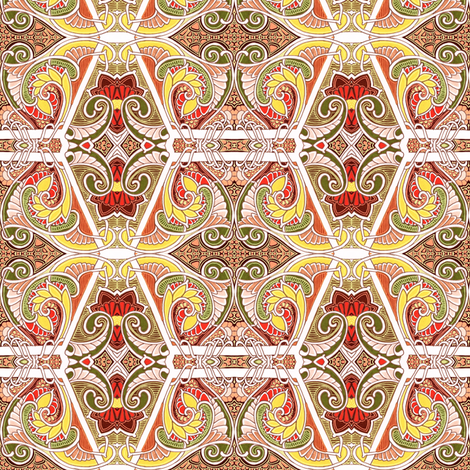 When Autumn Paisley Fall fabric by edsel2084 on Spoonflower - custom fabric