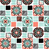 coral_mint_black_white_6_tiles_simple a