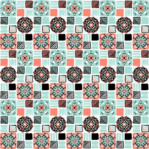 coral_mint_black_white_6_tiles_simple a