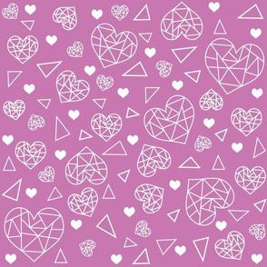 Geometric Heart Pattern